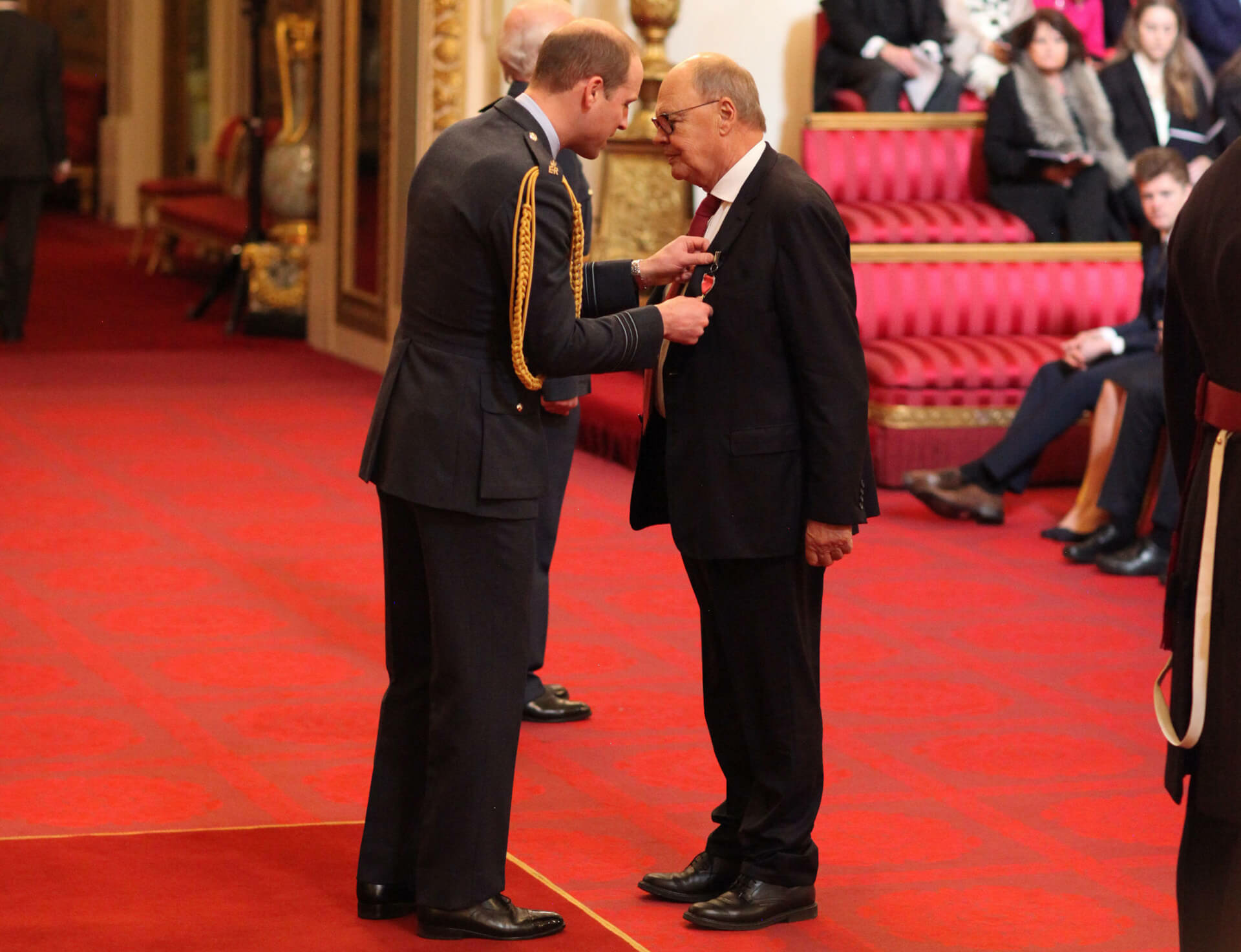 Nicholas Logsdail receives an OBE from the Queen for services to the arts