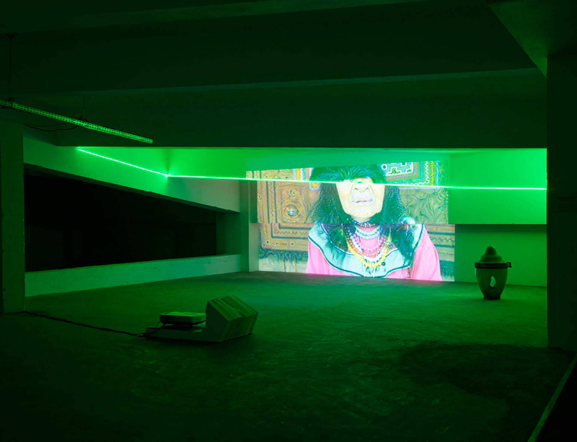 Haroon Mirza's 'Emerging Paradigm' makes London debut at DRAF