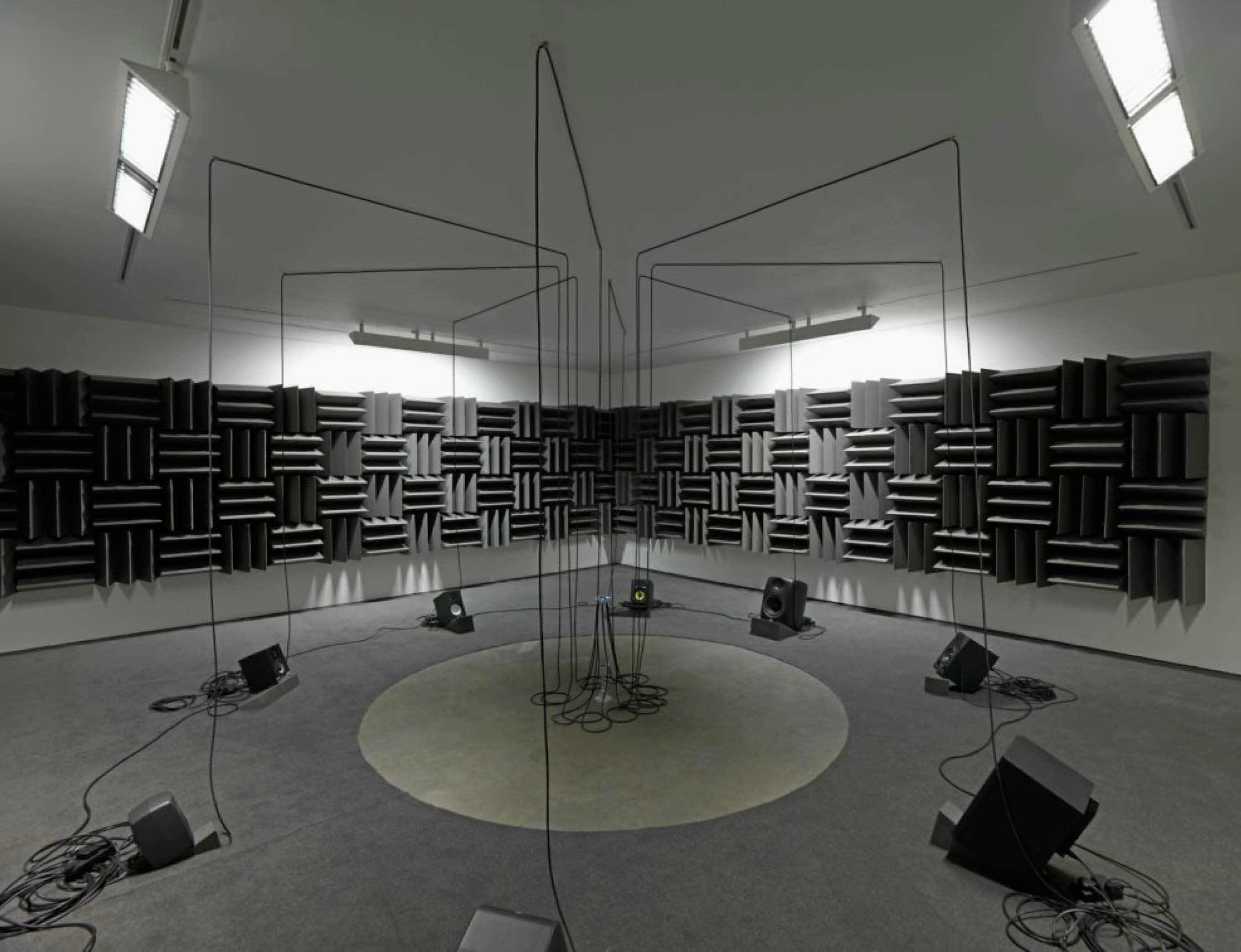 Haroon Mirza's 'HRM199: For a Partnership Society' at the Zabludowicz Collection