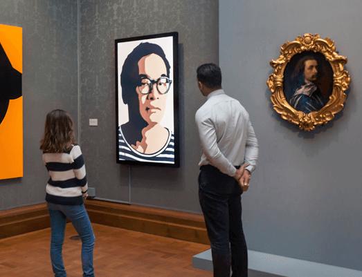 Julian Opie debuts work in response to Van Dyck at National Portrait Gallery