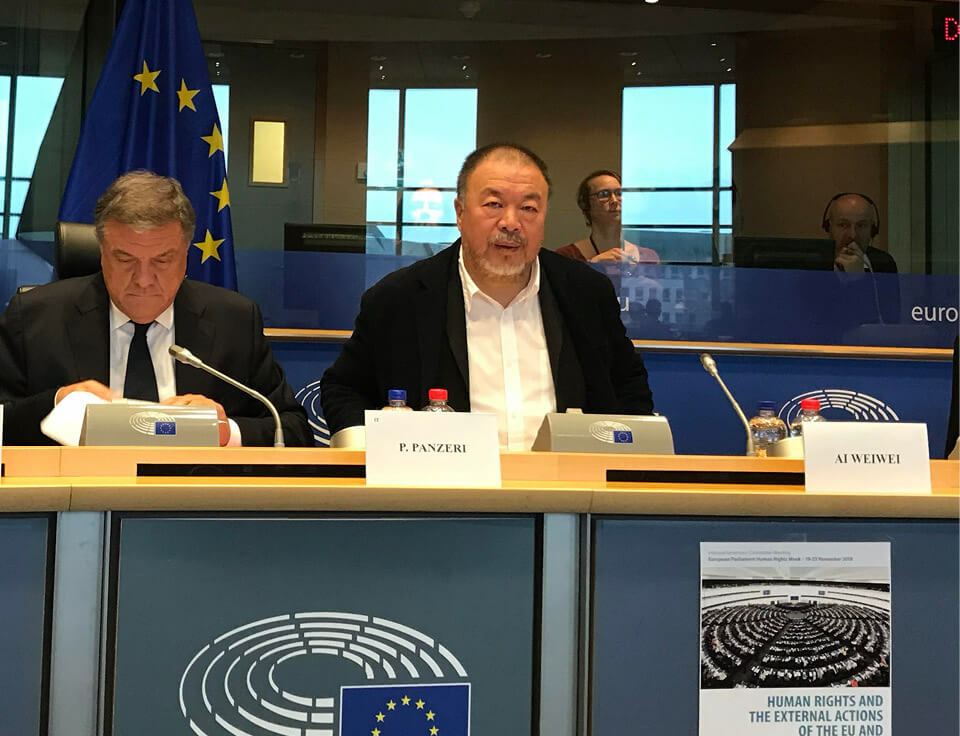 Ai Weiwei delivers keynote EU speech for Human Rights Week