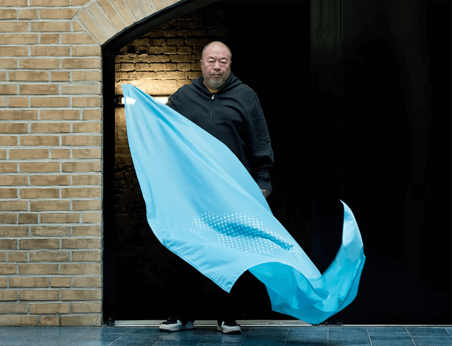 Ai Weiwei unveils flag on Universal Declaration of Human Rights 70th Anniversary