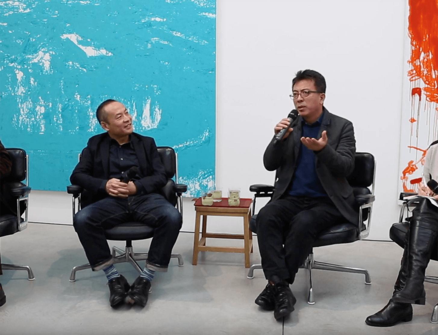 Watch now: Liu Xiaodong in conversation with curator Zhang Ga