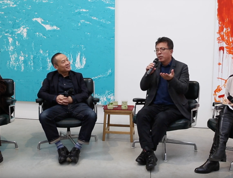 Watch now: Liu Xiaodong in conversation with curator Zhang Ga