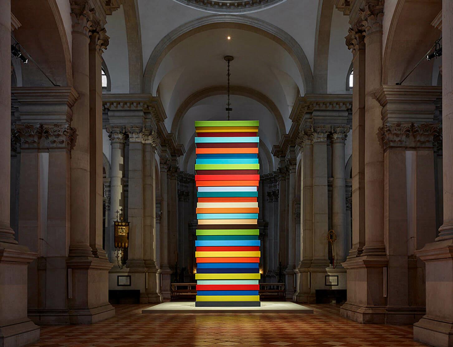 Sean Scully's exhibition 'HUMAN' on view at the Abbazia di San Giorgio Maggiore in Venice