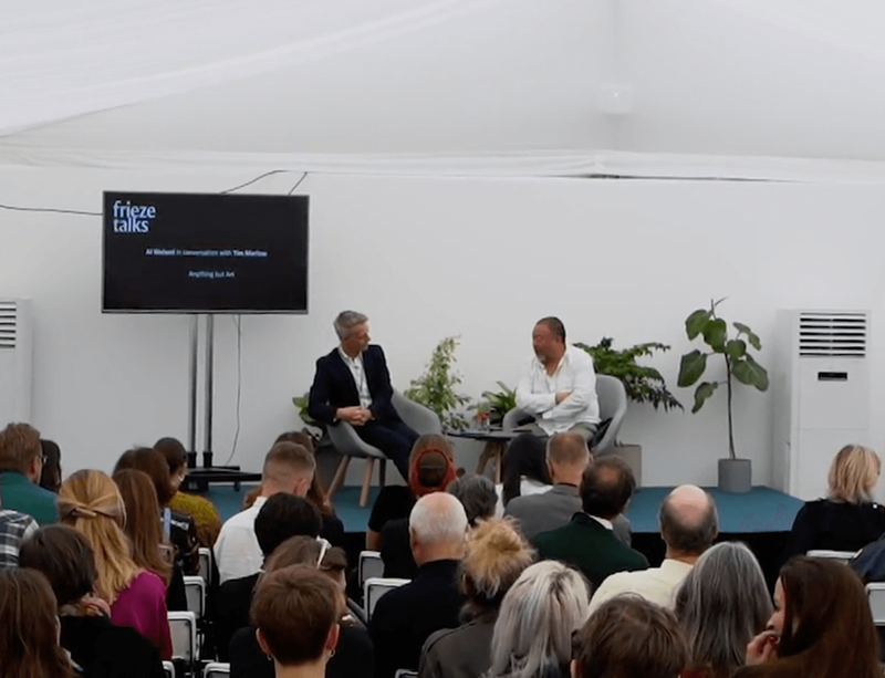 Watch now: Ai Weiwei in conversation with Tim Marlow at Frieze Masters
