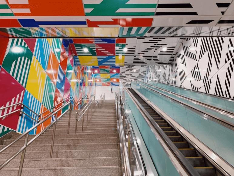Permanent Installation By Daniel Buren Debuts In Taipei Metro Station