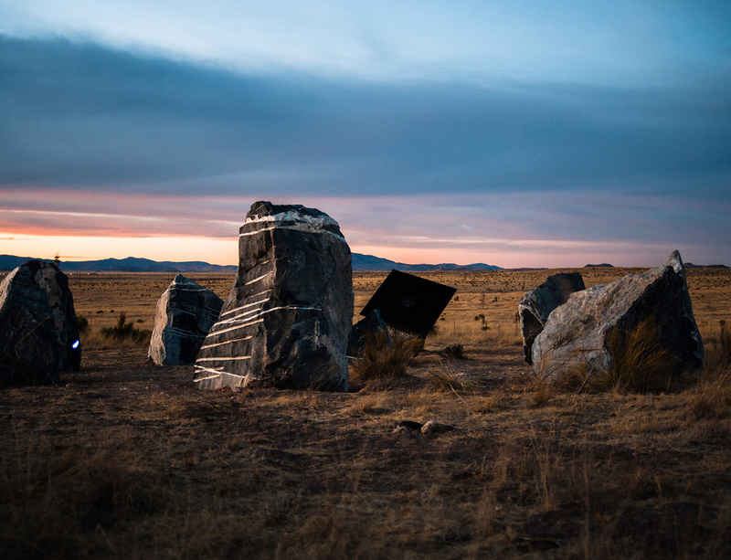 Ballroom Marfa to livestream the activation of Haroon Mirza's Stone Circle