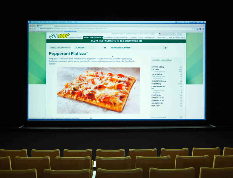 Spotlight Screenings continue with FRESHBUZZ (subway.com) by Cory Arcangel