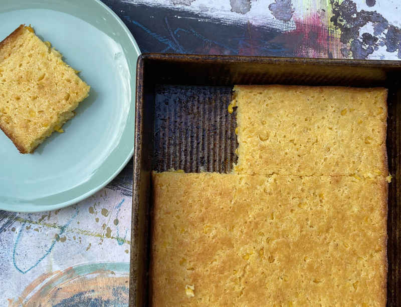 "Hugh Hayden shares his cornbread recipe for MoMA's ""Cooking with Artists"" series"