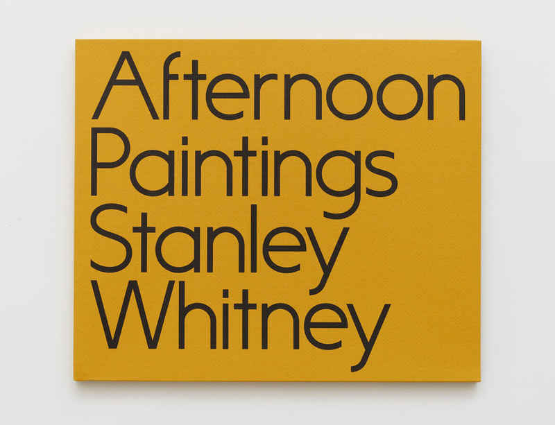 'Stanley Whitney: Afternoon Paintings' catalogue now available
