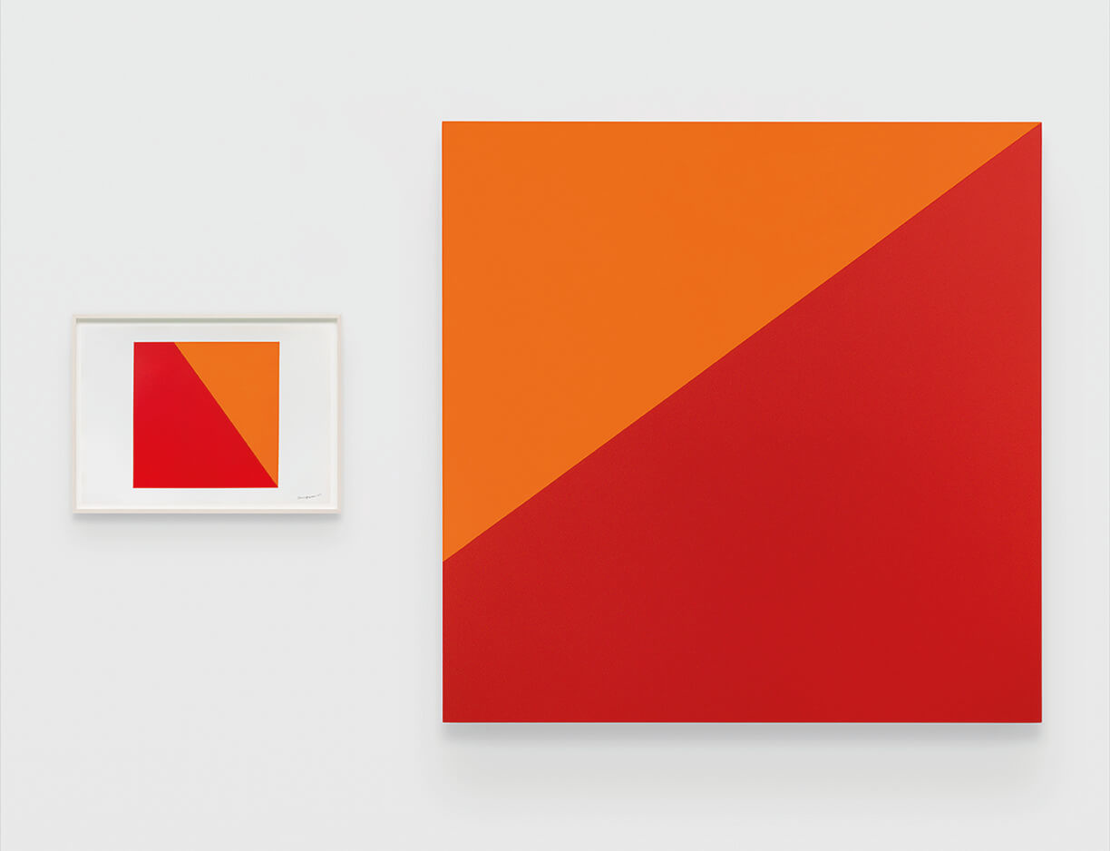 """<p><a href=""""https://www.lissongallery.com/artists/carmen-herrera"""" target=""""_blank"""">Carmen Herrera</a>&#39;s hard-edge, geometric forms are typically created with a ruler or a triangle &ndash;&nbsp;tools from her early training as an architect. Through comparably loose, preliminary sketches she explores the various relationships between shapes, colors and orientation,&nbsp;then proceeds&nbsp;with a formal painting on paper. It is within these that Herrera investigates, and ultimately achieves, the harmonious pairing between otherwise opposing geometric shapes in her distinctively precise acrylic on canvas paintings.&nbsp;</p>  <p>In this&nbsp;pairing on view in East Hampton, the painting on paper demonstrates Herrera&#39;s careful consideration of dimension, creating two bold planes: a red polygon to the left, and an orange triangle to its right. When transitioning this configuration to canvas for <em>Desierto Rojo</em>, Herrera has re-oriented the orange component to the top of the picture plane, thus evoking a reference to landscape through composition and title. Installed alongside one another, these works both demonstrate the artist&rsquo;s diligent and methodical process, as well as her playful mastering of tension, form and space.</p>  <p>For its inauguration this summer, the 1,000 square foot <a href=""""https://www.lissongallery.com/news/lisson-gallery-opens-in-east-hampton"""" target=""""_blank"""">East Hampton space</a> will highlight one work per week by gallery artists &ndash; with upcoming presentations by <a href=""""https://www.lissongallery.com/artists/anish-kapoor"""" target=""""_blank"""">Anish Kapoor</a>, <a href=""""https://www.lissongallery.com/artists/joanna-pousette-dart"""" target=""""_blank"""">Joanna Pousette-Dart</a>, <a href=""""https://www.lissongallery.com/artists/sean-scully"""" target=""""_blank"""">Sean Scully</a> and <a href=""""https://www.lissongallery.com/artists/leon-polk-smith"""" target=""""_blank"""">Leon Polk Smith</a>, among others&nbsp;&ndash; featuring both seminal, historic artwork"""
