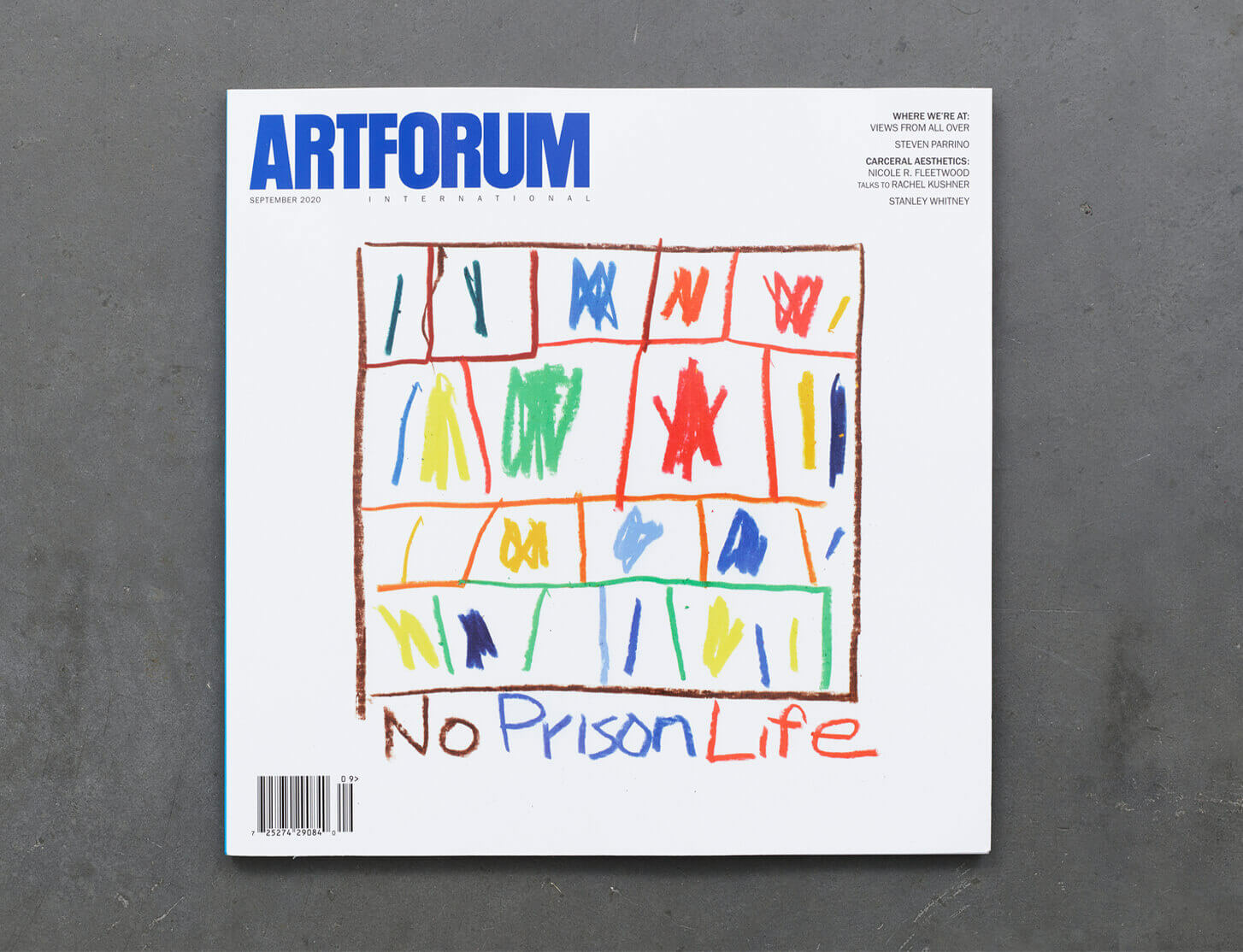 Stanley Whitney feature on the cover of Artforum's September Issue