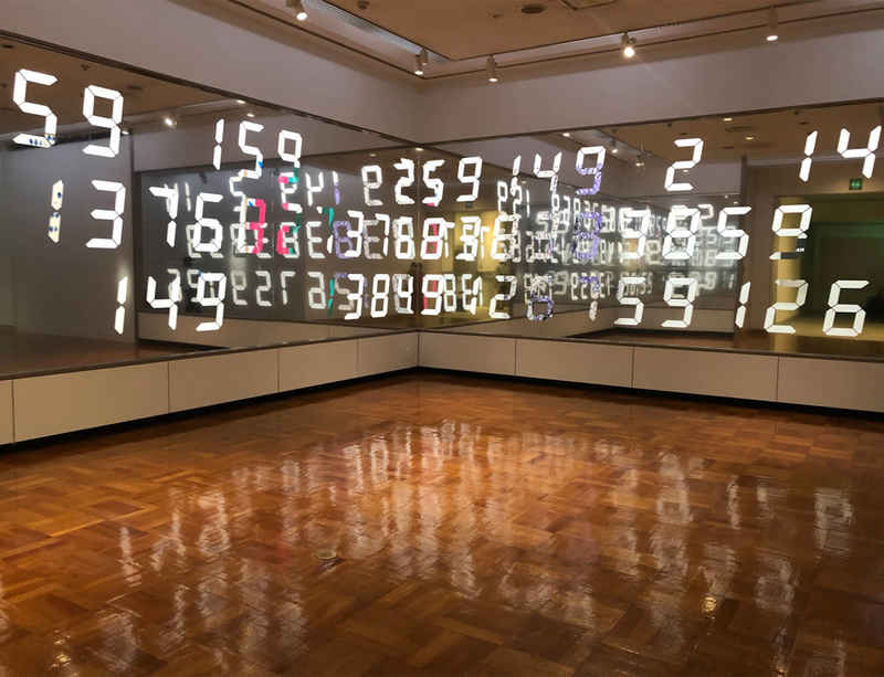 Tatsuo Miyajima at Chiba City Museum of Art, Tokyo