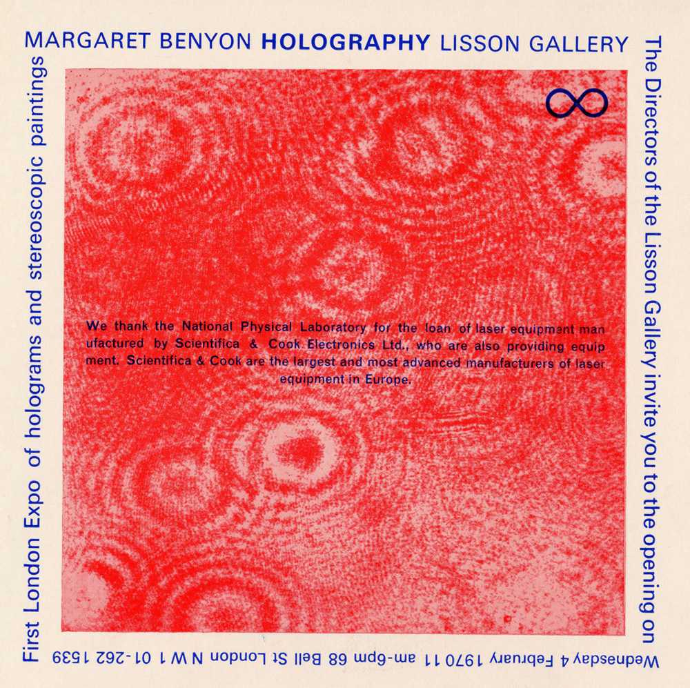 Margaret Benyon: Holograms and Stereoscopic Paintings