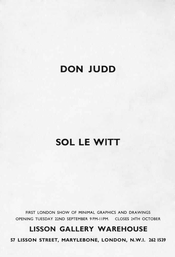 Donald Judd & Sol LeWitt