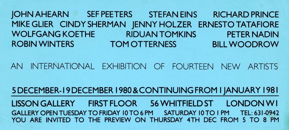 An International Exhibition of Fourteen New Artists