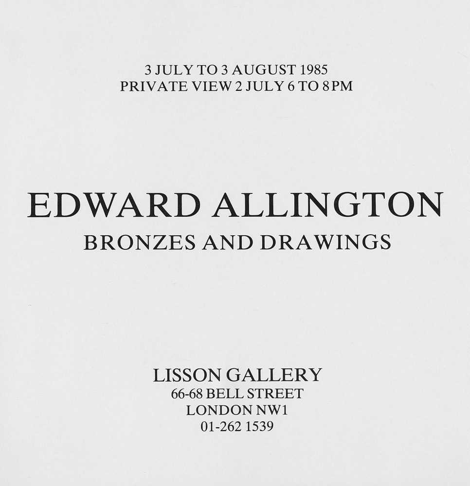 Edward Allington: Bronzes and Drawings