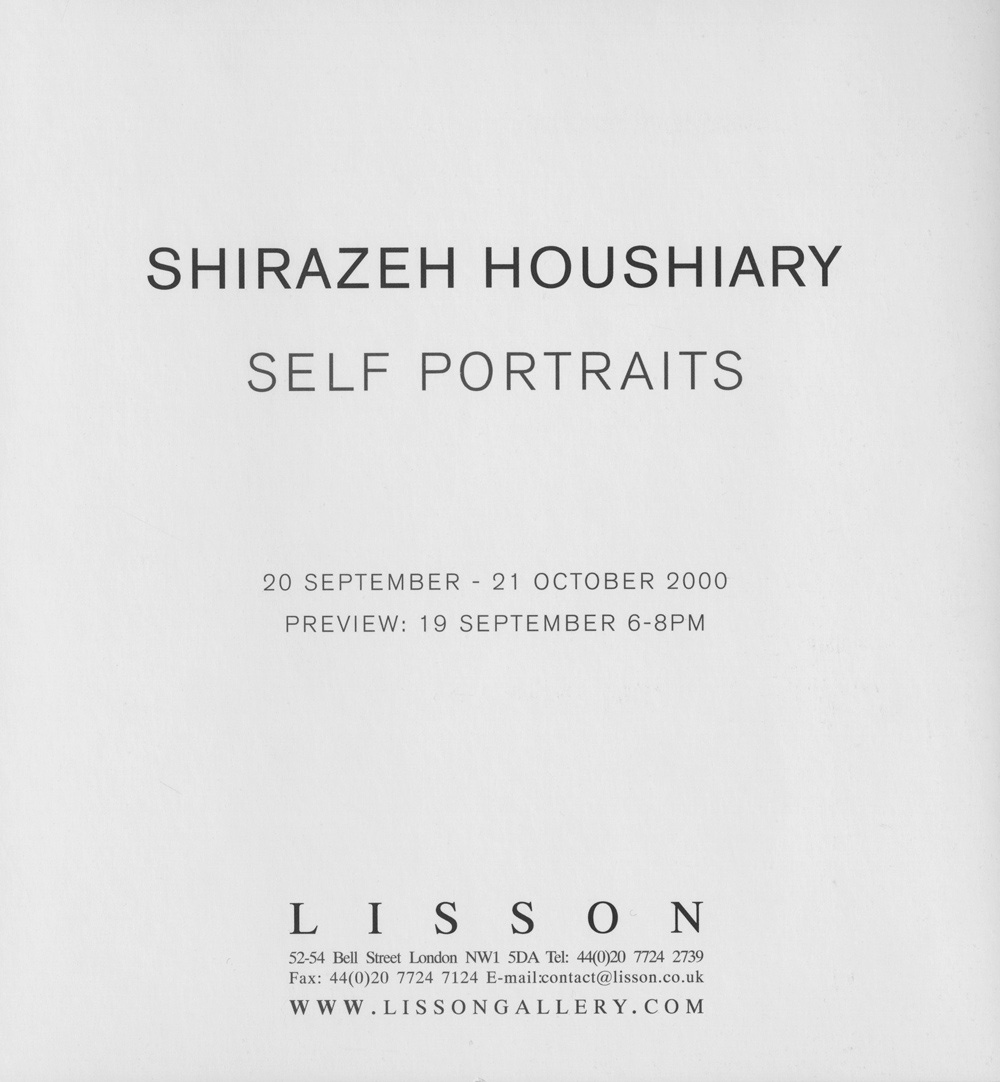 Shirazeh Houshiary: Self Portraits
