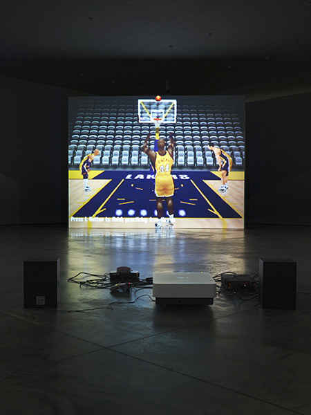 Cory-Arcangel_-Self-Playing-Nintendo-64-NBA-Courtside-2_-2011_-Photo-Sacha-Marcic