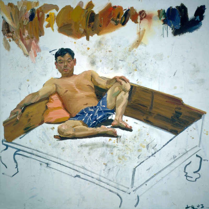 FEATURE_2003_Man_on_Kang_200x200cm_Oil_on_Canvas