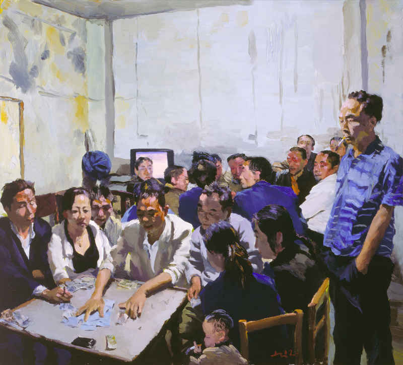FEATURE_2012MaJiang_Parlor_90x100cm_Oil_on_canvas